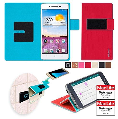 reboon Hülle für Oppo R1 Tasche Cover Case Bumper | Rot | Testsieger