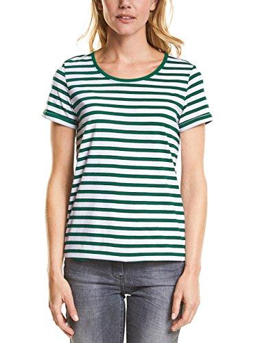 Clover Green T-shirt (Cecil Damen 311999 Sarina T-Shirt, Mehrfarbig (Clover Green 31279), Large)
