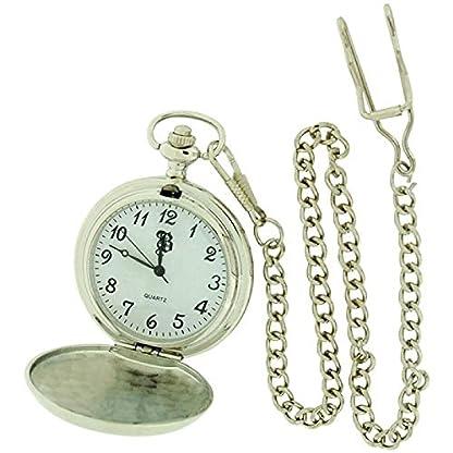 Boxx-m506106hunting–Taschenuhr-Metallarmband-Silber