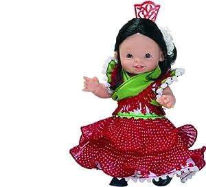 Paola Reina - Paolita, muñeca bebé con Traje Regional sevillano, 22 cm (00602)