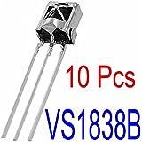 Sunkee 10piezas 365buying 1838receptor infrarrojo sensor infrarrojo infrarrojos receptor (TL1838VS1838B HX1838)