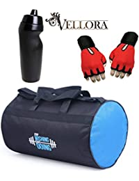 VELLORA Polyester Long Lasting Material, Duffel Gym Bag Orange With Penguin Sport Sipper, Gym Sipper Water Bottle... - B07F2LFRDL