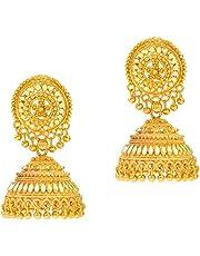 MissMister Goldplated Bridal Partywear Handmade Jhumki Women earring
