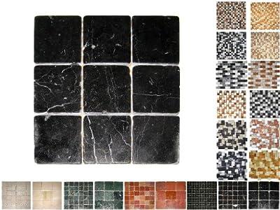 1Qm Marmor Mosaik Nero 100 von Mosaikdiscount24 - TapetenShop