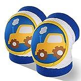 ZXYSHOP Ginocchiere per la Sicurezza Impermeabile Traspirante Regolabile per Bambini, Neonati, Neonati, Ragazzi, Ragazze, Bambini,Blue