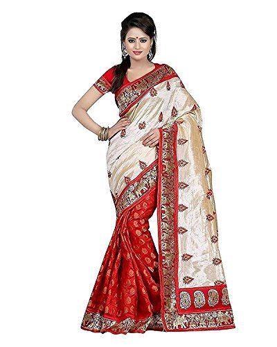 Great Indian Sale Sarees For Women Party Wear Designer Today Best Offers In Low Price Sale BHAGALPURI Fabric RED Color Free Size Ladies Sari