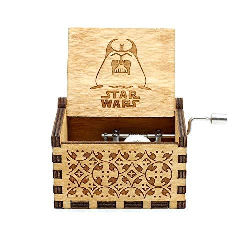FOONEE Caja de Música Harry Potter, Cajas de Música Pequeñas para Mujeres/Niñas / Niños/Niños, Artesanías de Caja de Madera Tallada Antigua (F)