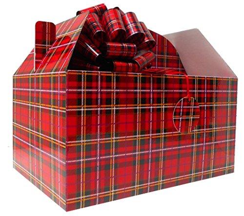 Gable caja regalo Hamper Kit gigante lazos tarjeta