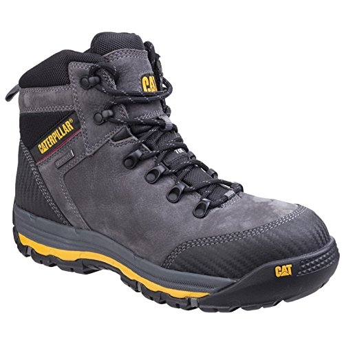 CAT Workwear MUNI06450 Munising P720161 hohe Sicherheitsschuhe S3, 45, Grau (Bedeckt Ferse)