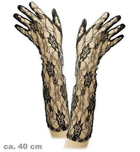 Spitzenhandschuhe Spitzen Handschuhe schwarz ()