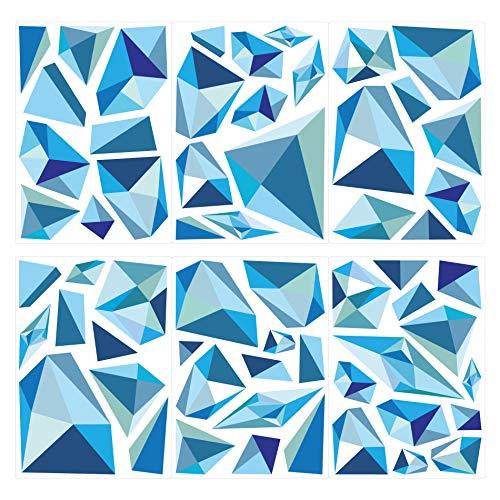 dekodino® Wandtattoo Retro Formen Kristalle 60 Stück Wohnzimmer -
