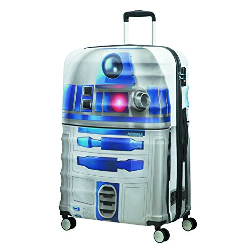American tourister - Disney Wavebreaker Star Wars R2D2, Spinner 77/28, 77 cm, 96 L, 5.7 KG Multicolour (Star R2d2)