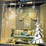 stickers muraux sticker mural Fenêtre de magasin flocon de neige blanche décalcomanie d'arbre de Noël joyeux Home ation Salon vitrine de la chambre des enfants