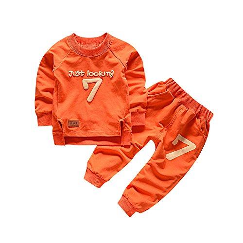 Btruely Pullover Set Kleinkind Unisex Kinderbekleidung Baby Clothes Set Langarm Spielanzug + Hosen Kappe Outfits Kinder
