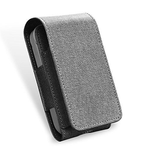 Kuty Tasche für Elektronische iQOS-Zigarette, Schutzhülle/Halterung, Platz für Geldbeutel, aus Kunstleder, mit Kartenhalter, Brown