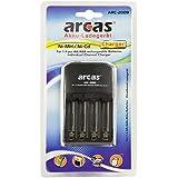 Arcas 20702009 Chargeur pour 4 Accus AA/AAA Noir