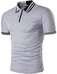 BicRad Herren Polo Shirt Kurzarm Baumwolle Slim Fit