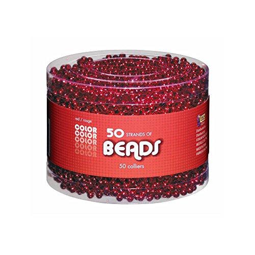 Perlenketten Rot Multipack - Rot - Standard ()