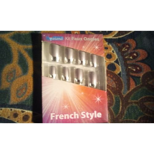 Kit Faux Ongles french style;faux ongles gris argentee