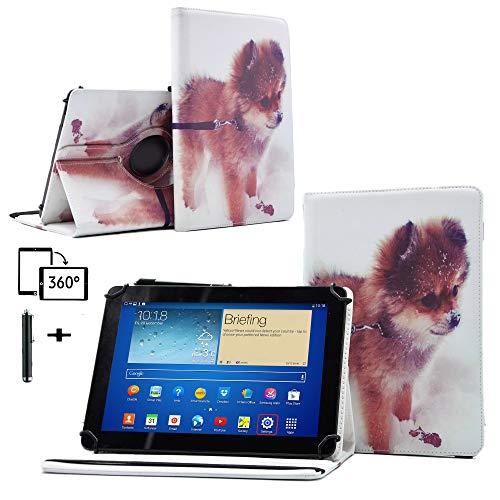 Schutzhülle für Denver TAQ-10182-25,7 cm (10,1 Zoll) Tablet, 360 Grad Standfunktion, aus Leder, für Denver TAQ-10182-25,7 cm (10,1 Zoll) Pomeranian