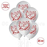 Palloncini Matrimonio sposi decorazioni addobbi festa Gas elio Party wedding 25pz