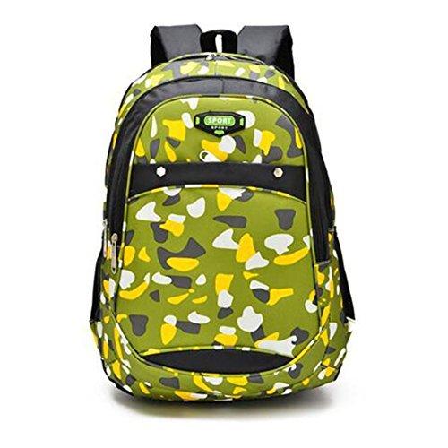 Bargburm Elementary School Student Bag School Shoulder Backpack Children Waterproof Camouflage Shoulder Bag F