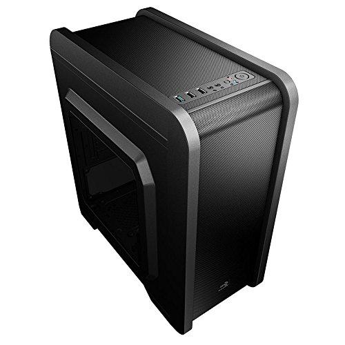 Aerocool QS240 - Caja gaming para PC (Micro ATX-Mini ITX, incluye ventilador...