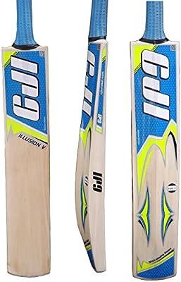 CJI Ultimate ilusión V bate de Cricket, mango corto peso 2lb 11ozs nuevo modelo