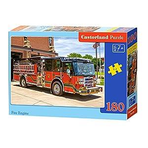 CASTORLAND Fire Engine 180 pcs Puzzle - Rompecabezas (Puzzle Rompecabezas, Vehículos, Niños, Niño/niña, 7 año(s), Interior)