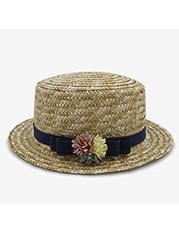 b9e08a1a59a95 Gorro de ala Ancha de Panamá Sombreros de Sol de Verano de Moda para  Mujeres Sombrero de Paja para Mujer Elegante…
