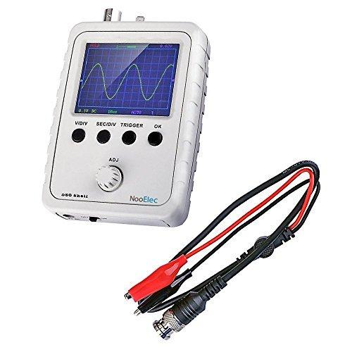 JYETech 'DSO Shell' Kit Oscilloscopio DIY con Enclosure & Clip Probe di NooElec. Oscilloscopio di Memorizzazione Digitale a Basso Costo con Display LCD 2,4'. DSO150, DSO 150, 15001K
