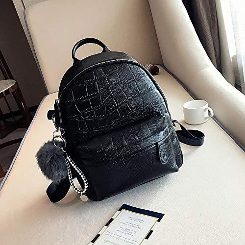 Mini Backpacks Women PU Leather Cute Small Backpack Female White Back Pack Black Backpacks for Teen Girls Fashion Bagpack Woman Schwarz (Teen Girl Cute)