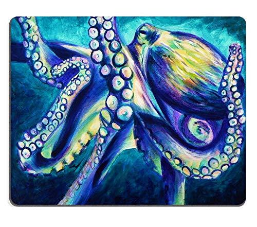 TANGGOOD gigantische kolossale Krake abstrakte Sea Monster Aquarell gemustert Mauspad 200mm x 250 mm x 3mm