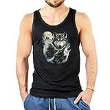 Indianer-Männer-Tank -Top/ Träger-Shirt/Muskel-Shirt mit Druck: 3 Wölfe - geniales Geschenk