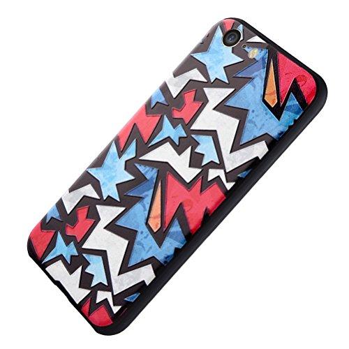 MOONCASE iPhone 7 Custodia, [Blu Fiore] Creative 3D morbida TPU Custodia per iPhone 7 4.7 Flessibile Skin Slim Fit Case di protezione Blu Fiore