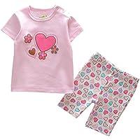 JIAJIA Bambini Estate Cotone T-shirt + pantaloni set bambino