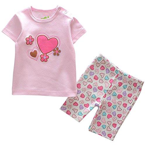 JIAJIA Bambini Estate Cotone T-shirt + pantaloni set bambino Outfits