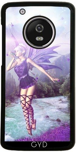 Hülle für Lenovo (Motorola) Moto G5 Plus - Gebühr Elf Fantasy Einhorn Magie by (Wald Kostüm Elf)