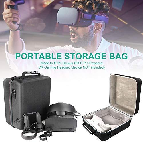 fllyingu VR Brille Aufbewahrungsbox,Tragbare Hartschalentasche für Oculus Rift S PC-betriebene VR-Gaming-Headset-Controller-Zubehör-Schutztasche Aufbewahrungskoffer