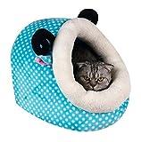 Warmes Haustier / Katze / Hundestall Winterkatze / Hundebett Dickeres Haustier Schlafsack-Blau