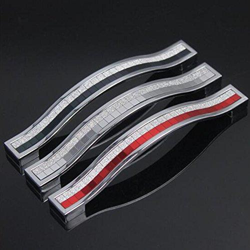 elear TM crystal manico zinco Alloy europea anta cassetto armadi maniglia bottoni, Lega di zinco, nero, 160 mm - Armadi Di Impugnatura Maniglia