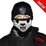 Face Shield - Bufanda térmica de Invierno con Forro Polar para Hombre, Hombre, Color Panda, tamaño Talla única