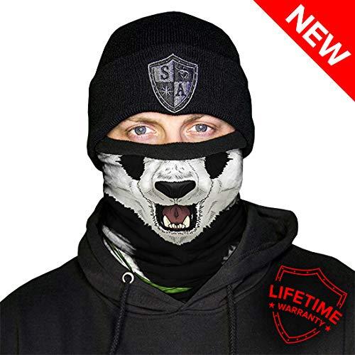 Face Shield Herren Thermo-Schal mit Fleece gefüttert Einheitsgröße Panda -