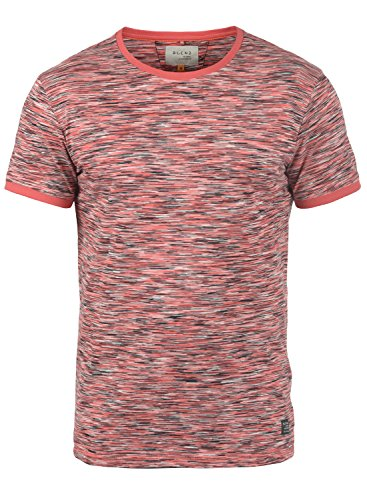 BLEND Lex Herren T-Shirt Rundhals Kurzarm Cranberry Red (73815)