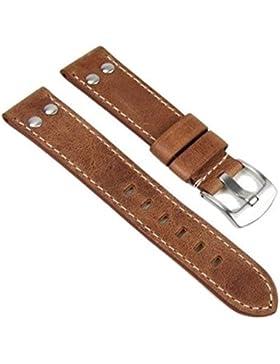 Eichmüller, since 1950 Ersatzband Uhrenarmband Vintage Look Leder Band 24mm 757