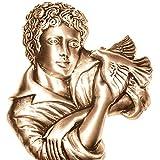 AmazinGrave - Dekorative Ornamenten Verschiedene, Grabdekorationen für Grabsteine Anwendung - Ornament für Grabstein 17x15cm - Grabschmuck Bronze 3057 - 2