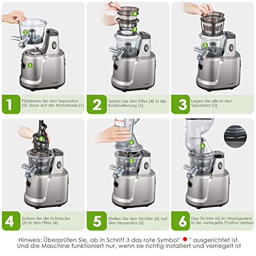 Entsafter Aicook 3 In 1 Slow Juicer Bild 4*