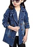 Brinny Mädchen Jeansjacke kinderjacken kinderkleidung mädchen Denim Jeans Windbreaker-Jacken-Mantel Outwear , Blau- 150