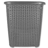 Wäschetruhe - Wäschekiste - Wäschesammler - Wäschekorb Rattan 45L mit
