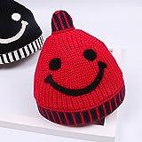 OME&QIUMEI Bebé Sombrero 5 Meses - 4 Años Sombreros Tejidos Para Bebés Niños Varones Y Niñas Conjunto De Tapón Rojo De Cabeza 5 Meses - 3 Años